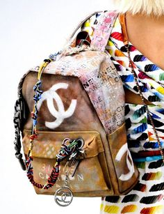 Chanel graffiti: the Coolest backpack