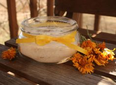 Lemon Scouring Powder 1/2 cup baking soda zest of half a lemon 1 tablespoon ground calendula petals (optional, for color) few drops of lemon essential oil (for added scent)