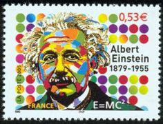 Albert Einstein Stamp France