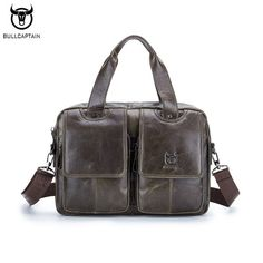 Sale US $49.98   BULLCAPTAIN Brand Genuine Leather Men Briefcase Business Men Laptop Tote Bag Retro Leisure Men's Travel Shoulder Bags Handbag  #BULLCAPTAIN #Brand #Genuine #Leather #Briefcase #Business #Laptop #Tote #Retro #Leisure #Men's #Travel #Shoulder #Bags #Handbag