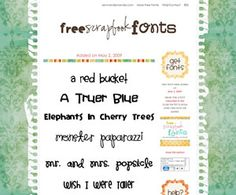 lots of super cute fonts..FREE!