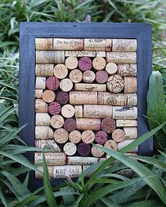 Monogrammed wine cork wall hanging!