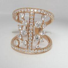 Rose Gold and Diamond Fine Jewelry-  Fashion Ring!