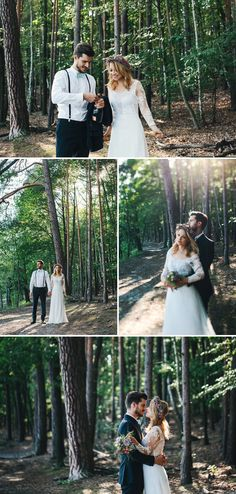 Hochzeit Fotoidee Wald Verführerische Romantik am See