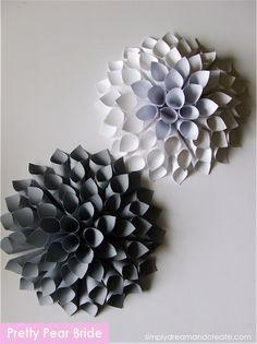 {Home Sunday} DIY Paper Dahlias