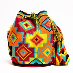 Wayuu Boho Bags with Crochet Patterns - bag sale, ladies side bags, handbag bag *ad Free Crochet Bag, Crochet Purses, Crochet Hats, Knit Crochet, Tapestry Crochet Patterns, Crochet Stitches Patterns, Mochila Crochet, Clutch Pattern, Tapestry Bag