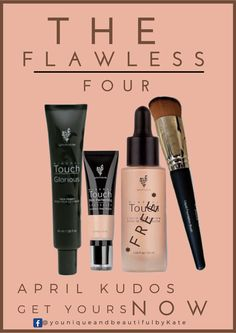 Don't miss out on this super bargain... buy the Flawless Four and you're getting the Touch Liquid Foundation FREE!!