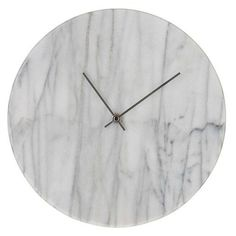 Marcella Marble Wall Clock with silver hands.30cm x 30cm.