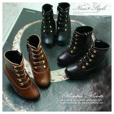 These boots in dark brown are super cute.