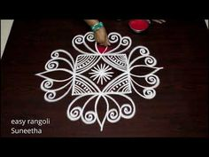 How to develope a Creative rangoli & kolam design with 3 dots for beginners by easy rangoli Suneetha Rangoli Kolam Designs, Rangoli Designs With Dots, Beautiful Rangoli Designs, New Year Rangoli, Padi Kolam, Special Rangoli, Curvy Petite Fashion, Diwali Festival, Foyer Decorating