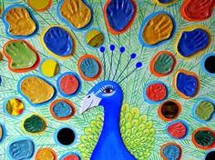 kids art project peacock clay - Google Search