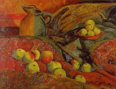Still life with apples and jug, 1912