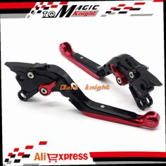 54.99$  Buy here - http://ali9dx.worldwells.pw/go.php?t=32683390772 - For DUCATI Multistrada 1000DS 1100/S Motorcycle Accessories CNC Billet Aluminum Folding Extendable Brake Clutch Levers Black+Red