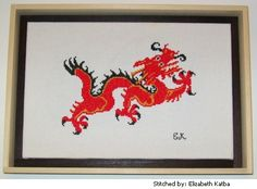 ... Dragon cross stitch pattern