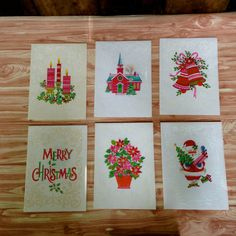 14 Vintage Christmas Cards on Etsy, $12.00