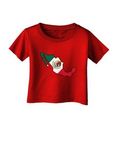 Mexico Outline - Mexican Flag Infant T-Shirt Dark by TooLoud