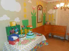 Super Mario Party Table and Wall decorations