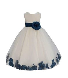 a6682f1e418 Price   15.14 -  24.99 Amazon.com  Wedding Pageant Flower Petals Girl Ivory  Dress with Bow Tie Sash 302a  Clothing