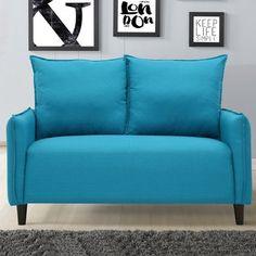 Varick Gallery Almondsbury Morden Loveseat Upholstery: Blue