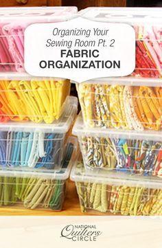Sewing Room Organization: Fabric