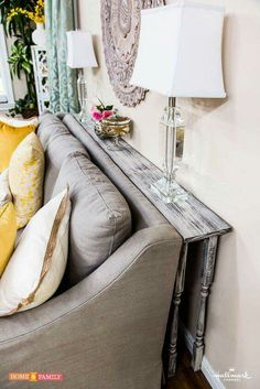 Thin sofa table.