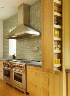 Kitchen, subway tile backsplash by Heath Ceramics by connie