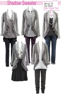 fall fabulous with CAbi's shadow sweater...soooo much design...and you should see it from the back...