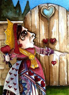 Alice in Wonderland series  the Queen of hearts by stressiecat