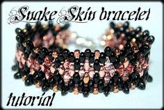 Snake Skin bracelet Beading Pattern PDF bracelet  by Shinkabeads, $6.55