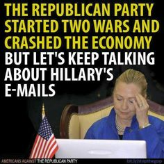 Thanks to the idiotic Congressional Republicans clowns playing their typical political games and trying to sabotage Hillary's presidential campaign!!  Plus, I'm betting Fox Noise loves keeping this story alive and happily spreading all the Republican lies and propaganda 24/7 too!!