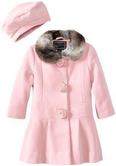 Vikoros Girls Winter Faux Wool Collar Coats Warm Jacket Long ...