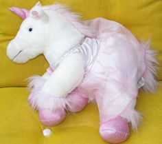 Pink Unicorn Plush Glitter Sounds Ballerina Dress Build a Bear Workshop BABW EUC