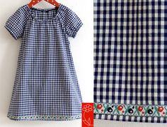 """Mädchenkleid """"Ella"""" - Vichykaro - kurzarmig von  katharina-meintke-kids - Lieblingssachen für Kinder auf DaWanda.com"""