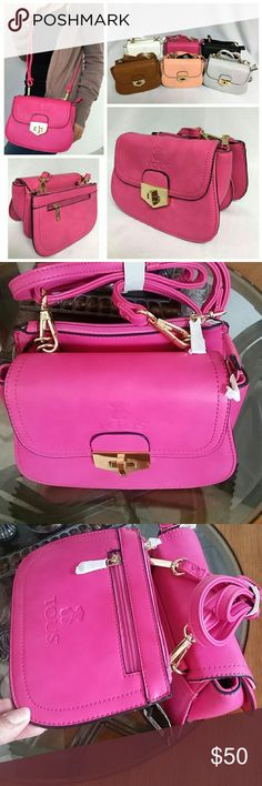 Travel Purse Like a Tous Travel Bag (Pink, White, Black, Gray, Tan) with extra pocket. One of each color. SIMILIAR. Tous Bags Travel Bags