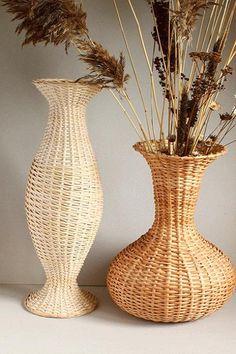 Напольные вазы из газетных трубочек своими руками. Мастер-класс