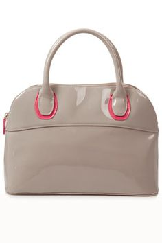 I love this Patent Kettle Bag with the POP of neon!! Sooo cute!!