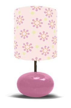 Pink Starburst on Pink Lamp Base