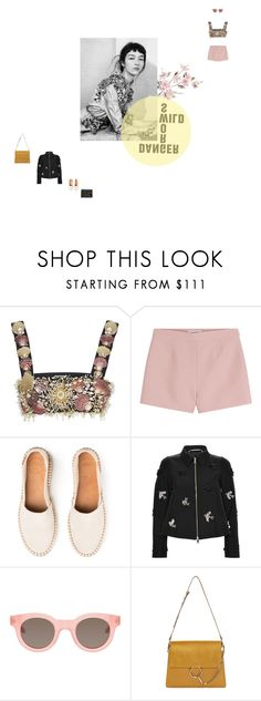 """""""holdin on - flume"""" by aimable on Polyvore featuring FAUSTO PUGLISI, Valentino, Rochas, Sun Buddies, Chloé and Marni"""
