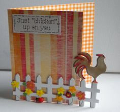 Going Buggy: Retirement Card and a Chicken - using Cricut Wall Decor and More cartridge