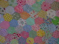 1930's Hexagons Quilt Top