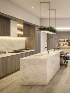 Kitchen Room Design, Modern Kitchen Design, Modern Design, Interior Design Studio, Interior Design Kitchen, Interior Design Inspiration, Bedroom Frames, Barbie Dream House, Minimalist Kitchen