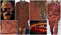 MENSWEAR TOP 10 COLOR TRENDS F/W 2015-16. FASHION SNOOPS IRON OXIDE (Landscape Tones)