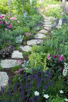 simple garden path with flagstones