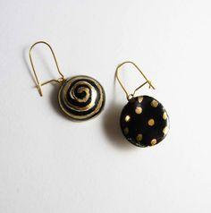 Náušnice - Tana šperky - keramika/zlato - 6154241_
