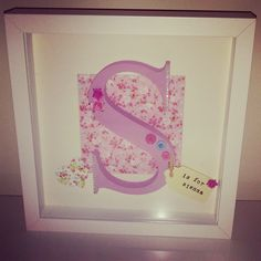 Girls Personalised Framed Initial