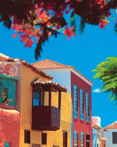Colourful houses in Tenerife Canaries Tenerife, Holiday Destinations, Travel Destinations, Spain Travel, Africa Travel, Croatia Travel, Hawaii Travel, Italy Travel, Destination Voyage