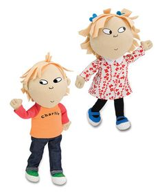 Take a look at this Talking Poseable Charlie & Lola Dolls by The Plush Life: Toys & Pillows on #zulily today!