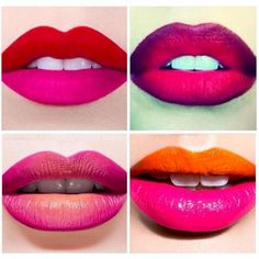 New trend alert: Two Toned Lips #twotoned #ombre #lip #lipstick #lipstain #makeup #covergirl #revlon #makeupforever #pink #red #orange #fashion #style #beauty #trend