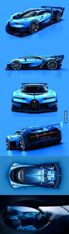 The new concept car: Bugatti Vision Gran Turismo *heavy breathing*