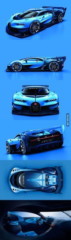 The new concept car: Bugatti Vision Gran Turismo *heavy breathing*